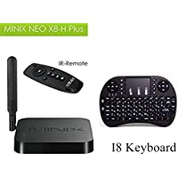MINIX NEO X8-H Plus Amlogic S812-H Quad-Core Cortex-A9 Android 4.4.2 Mini Google TV Box Full 2160p H.265/HEVC HDMI Media Streaming Player 2G/16G +I8 Touchpad Wireless Keyboard