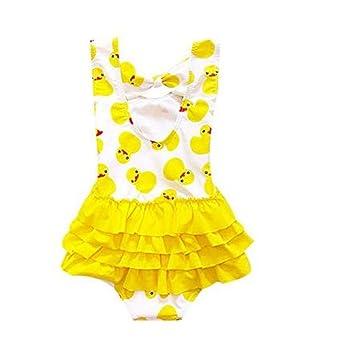 Amazon.com: clubdeer bebé niña traje de baño Kid pato ...