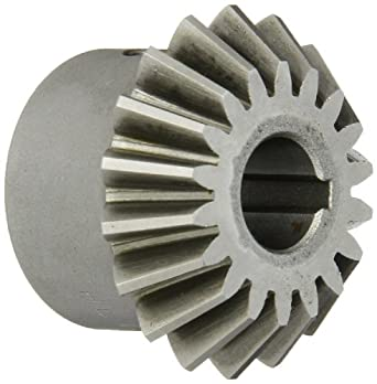 """Boston Gear HL151Y-P Bevel Pinion Gear, 1.5:1 Ratio, 0.500"""" Bore, 12 Pitch, 18 Teeth, 20 Degree Pressure Angle, Straight Bevel, Keyway, Steel with Case-Hardened Teeth"""