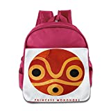 XJBD Custom Funny Princess Mononoke Kids Children School Bagpack Bag For 1-6 Years Old Pink