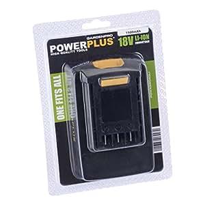 Powerplus 18V Li-Ion 1500mAh batería de Repuesto POWXG8040LI (para Powerplus Corldess cortadora de césped POWXG8010)