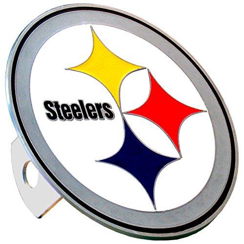 Siskiyou NFL Pittsburgh Steelers Large Logo Hitch Cover, Class II & III