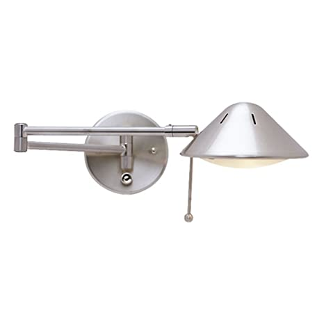LED Swing Arm Plug In Wall Lamp