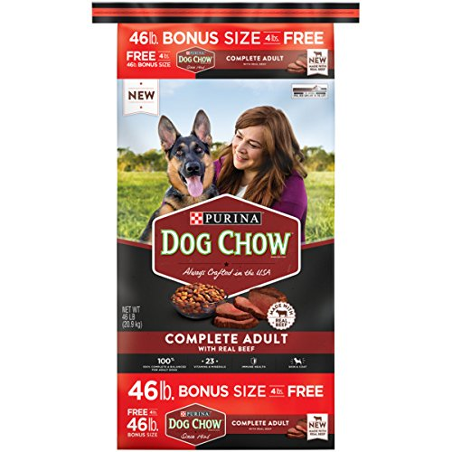 Purina Dog Chow Complete Made with Real Beef Adult Dry Dog Food, 46 lb