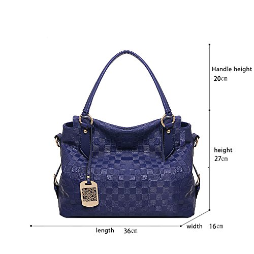 Tisdain messaggero Borse modello modo delle del borsa molle solido di spalla nuovo della di signore Blu del del modo del sacchetto sacchetto della fXfdqwx4Ar