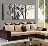 Mon Art Abstarct Art Tree Picture Canvas Prints Modern Home Decoration Wall Art 4060cm x3(UnStretched and UnFramed)