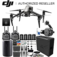 DJI Inspire 2 RAW Quadcopter (CinemaDNG and Apple ProRes Licenses Included) with Zenmuse X7 Camera, DL & DL-S Lens Set & Extra Cendence Remote Controller Bundle
