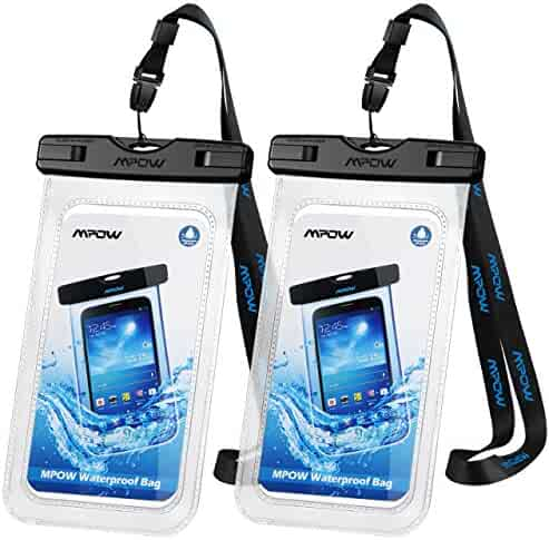 Mpow Universal Waterproof Case, IPX8 Waterproof Phone Pouch Dry Bag Compatible for iPhone Xs Max/XS/XR/X/8/8P/7/7P Galaxy up to 6.0