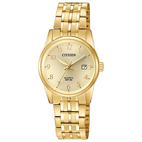 - Citizen Women's Quartz Stainless Steel Casual Watch, Color:Gold-Toned (Model: EU6002-51Q)