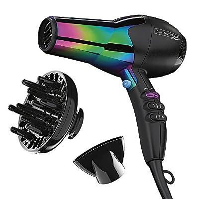 Infinitipro By Conair 1875W Ion Choice Hair Dryer, Rainbow Finish