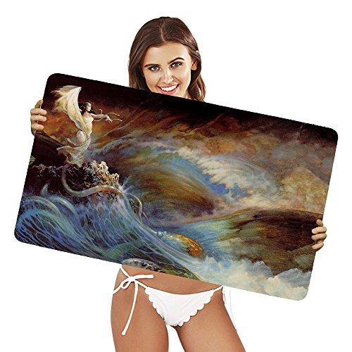 XtremePads [ Extra Large Gaming Desk Mouse Mat / Pad ] - ( Artistic Painting Wave Frank Frazetta )