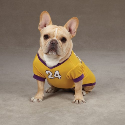 Small/Medium #24 Kobe Bryant Dog Jersey La Lakers NBA Pet Puppy Mesh T Shirt Clothes Apparel
