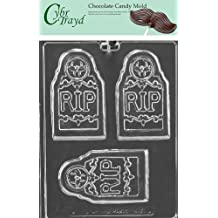 Cybrtrayd H171 Rip Tombstone Bar Chocolate Candy Mold with Exclusive Copyrighted Molding Instructions
