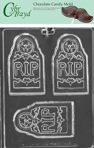 - Cybrtrayd Life of the Party H171 Halloween RIP Tombstone Grave Bar Chocolate Candy Mold in Sealed Protective Poly Bag Imprinted with Copyrighted Cybrtrayd Molding Instructions