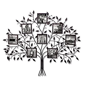 Amazoncom Adeco Pf0566 Family Tree Black Metal Wall Hanging