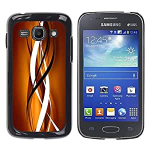 LASTONE PHONE CASE / Slim Protector Hard Shell Cover Case for Samsung Galaxy Ace 3 GT-S7270 GT-S7275 GT-S7272 / Cool Gold Brown Black Clean Lines Vertical
