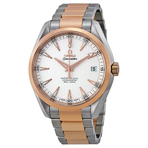 Omega-Mens-Aqua-Terra-Swiss-Automatic-Stainless-Steel-Dress-Watch-ColorTwo-Tone-Model-23120422102001
