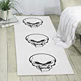 GDBADY Skull of The Devil Domestic Sitting Room Bedroom Domestic Carpet