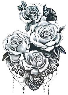 Rosen Temporäres Fake Tattoo Km187 Amazon De Beauty