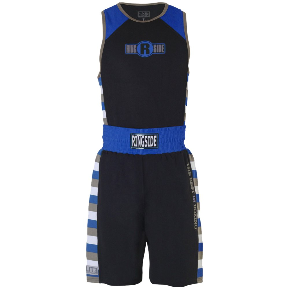 Ringside Youth Elite #4 Outfit Black//Grey Small