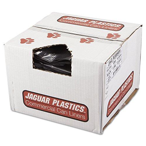 Jaguar Plastics R3858H Repro Low-Density Can Liners, 1.5 Mil, 38 x 58, Black, 10 Bags Per Roll (Case of 10 Rolls)