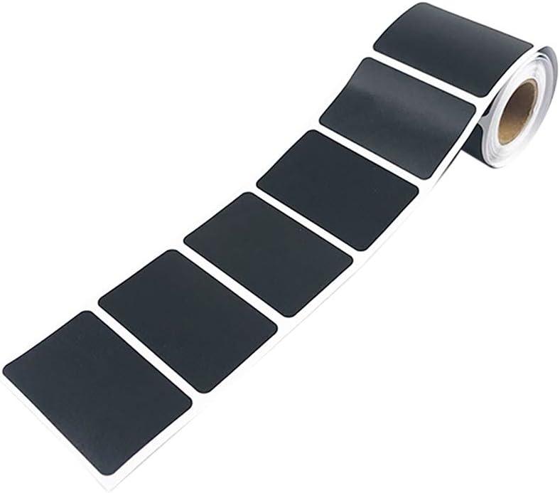 JINNAI 1 rouleau de 150 /étiquettes de cuisine de haute qualit/é en noir mat pour pots et pots /Étiquettes autocollantes vierges format ardoise pour bo/îtes /à /épices et pots de confiture 4 x 6 cm