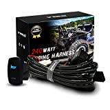 WOWLED Waterproof Laser Horn Rocker Switch LED Illuminated Backlit + Relay Wiring Harness Kit for Jeep Truck Car Boat SUV ATV UTE 4X4 On Off LED Light Toggle Switch Mothers Day Gifts Decorations