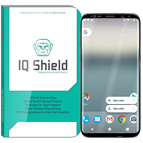Galaxy S8 Plus Screen Protector (Black), IQ Shield Tempered Ballistic Glass Screen Protector for Galaxy S8 Plus (S8+) 99.9% Transparent HD and Shatter-Proof Shield
