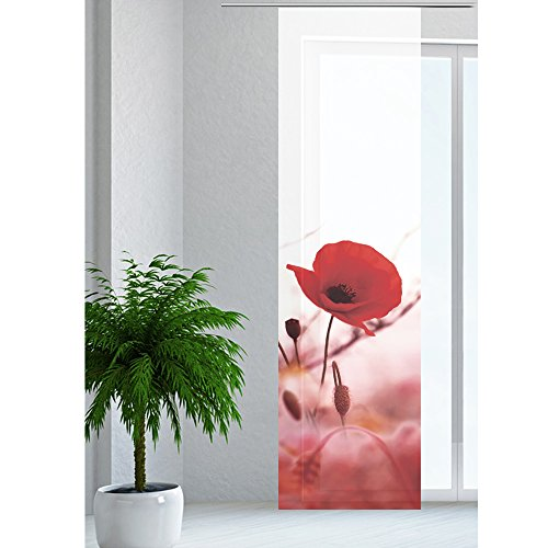 JEMIDI Flächenvorhang - Living- Schiebegardine Flächen Vorhang Raumtrenner Gardine Vorhang Schal Design 37