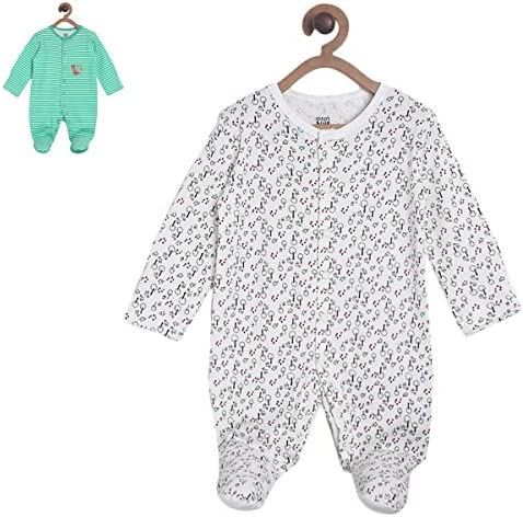 bc0117b93c2c Mini Klub Baby Boy s Multicolor Sleep Suit Pack of 2  Amazon.in  Baby