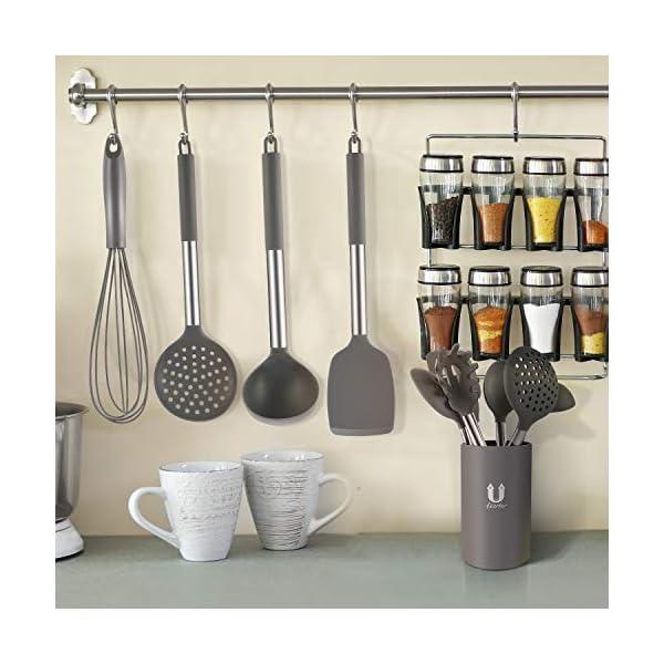 Silicone Cooking Utensil Set, BPA Free 24pcs Silicone Cooking Kitchen Utensils Set with 10pcs hook, Non-stick Heat… 7
