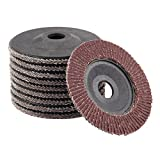 Dophee 10Pcs 4'' 125mm 60# Grit Polishing Buffing Pad Grinder Flap Sanding Disc Grinding Wheel