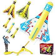 Amazon #DealOfTheDay: Jasonwell Toy Rocket Launcher for Kids Sturdy Stomp Launch Toys Fun Outdoor Toy for Kids Gift for Boys and Girls Age 5 6 7 8 9 10 Years Old with 3 Foam Rockets and 3 Stunt Planes