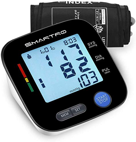 Blood Pressure Monitor Upper Arm – Digital Automatic Large Cuff BP Monitor for Home Use, 2 * 90 Memories, Storage Bag Included, FDA&CE Certificate