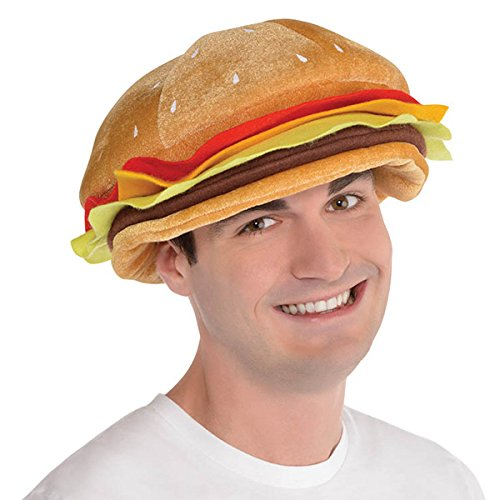 Amscan Cheeseburger Hat Head Wear/Gear for cheap