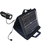 Gomadic SunVolt Powerful and Portable Solar Charger suitable for the Cygolite Streak - Incredible charge speeds for up to two devices