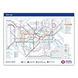 Standard London Underground Tube Station Map Poster - June 2016 (A1 (841x594mm))