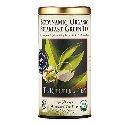 Republic Of Tea, Tea Green Breakfast Biodynamic Organic 36 Bags, 36 Count