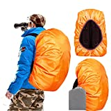 Joy Walker Backpack Rain Cover Waterproof Breathable Suitable for (15-30L, 30-40L, 40-55L, 55-70L, 70-90L) Backpack Hiking/Camping/Traveling (Orange, Small (for 15-30L Backpack))