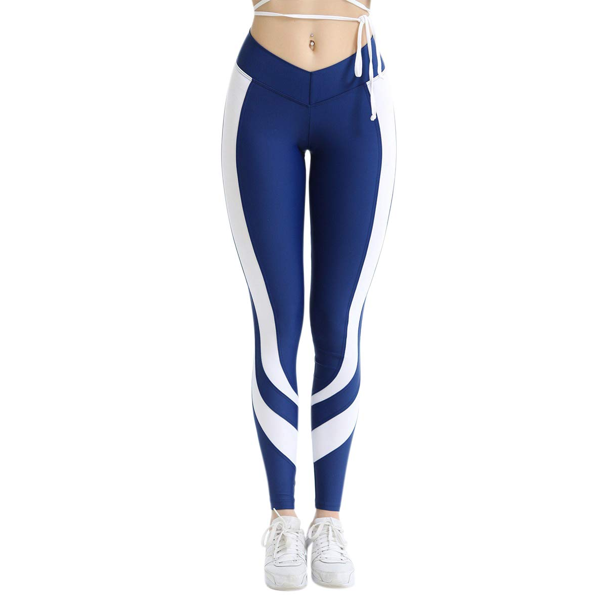 UWYHF High Waist Yoga Pants Love Heart Print Tummy Control ...