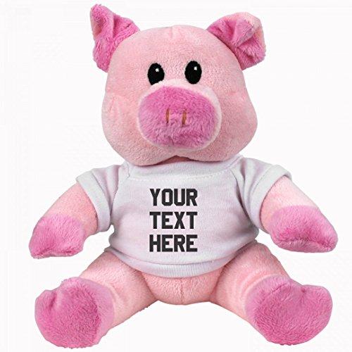 Custom Pig Plush: Small Pink Piggie Stuffed Animal (Pig Personalized)