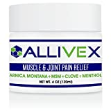#7: ALLIVEX 4oz. MUSCLE & JOINT PAIN RELIEF CREAM...THE BEST PAIN CREAM on AMAZON with 2X the Active Ingredients for the Aches & Pains associated with Backache, Strains, Sprains, and Bruises.
