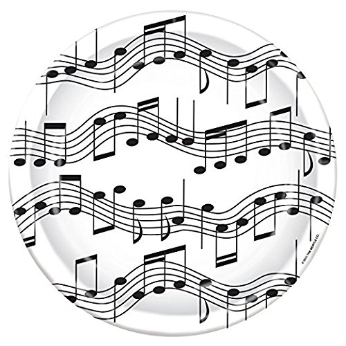 Musical Note Plates (Value Pack: 24 Count) by Beistle