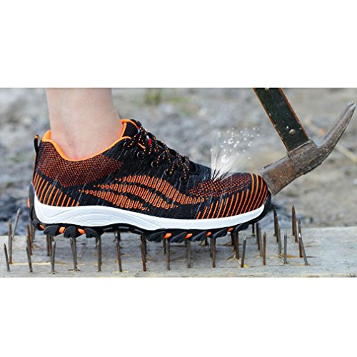 Mujer Calzado Calzado Unisex Senderismo Deportivo Hombres Zapatos de Naranja qqw7xA0P