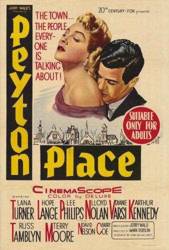 Peyton Place Poster Movie 27x40 Lana Turner Hope Lange Lee P