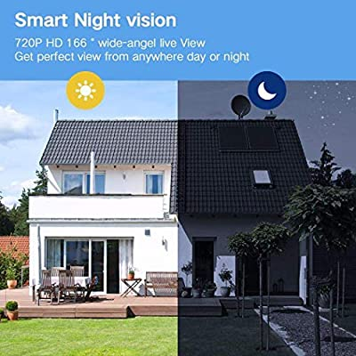 Alisena Wireless Remote Home Security Monitoring Camera RIP Motion Detection Smart WiFi Video Doorbell