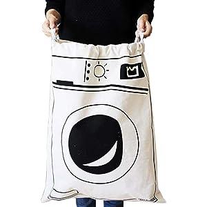 Fyore Extra grande lienzo bolsa de almacenamiento resistente cord/ón algod/ón lino shabby chic lavander/ía lavado bolsa 65/* 45/cm