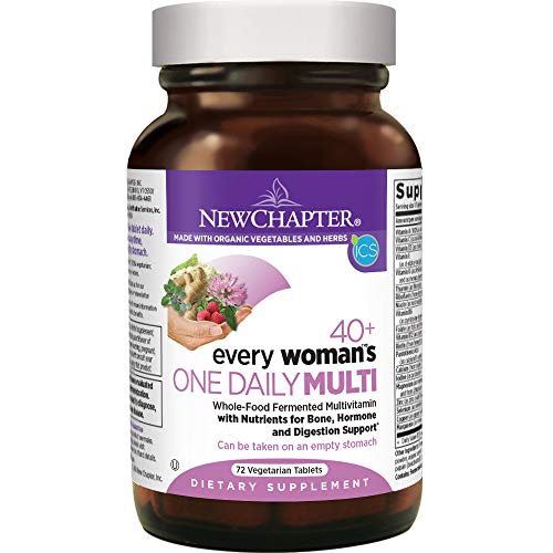 New Chapter Women's Multivitamin, Every Woman's One Daily 40+, Fermented with Probiotics + Vitamin D3 + B Vitamins + Organic Non-GMO Ingredients - 72 ct (Packaging May Vary) (Best Vitamin E For Women)