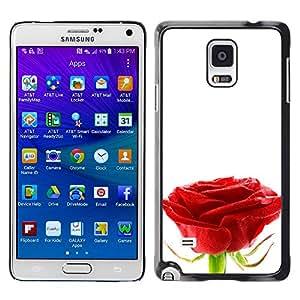 Pureza de una sola Rose - Metal de aluminio y de plástico duro Caja del teléfono - Negro - Samsung Galaxy Note 4