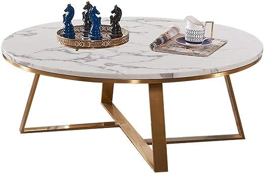 mesas de Centro Modernas Mesa de Centro de mármol Moderna Redonda ...